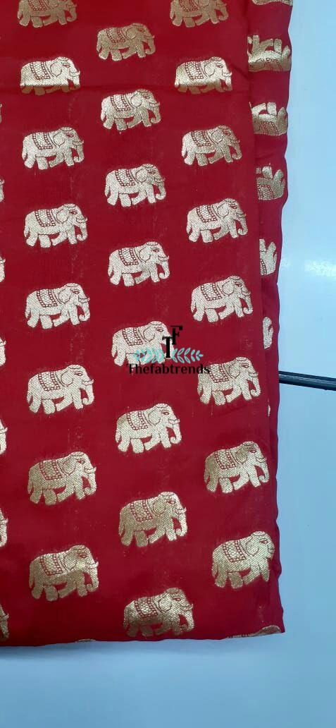 Banarasi Elephant Weave - The FabTrends