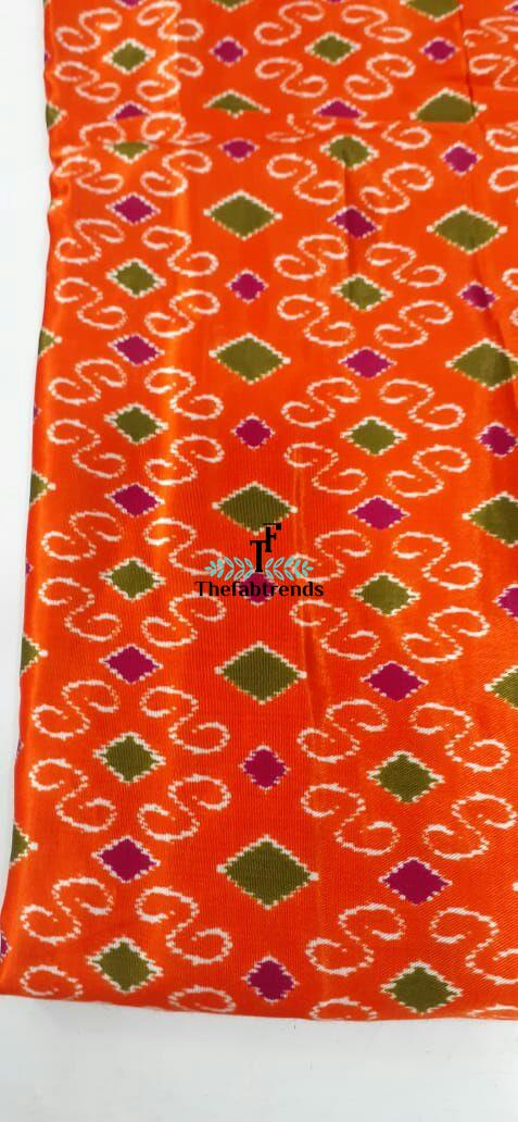 Mushru Silk Print - The FabTrends