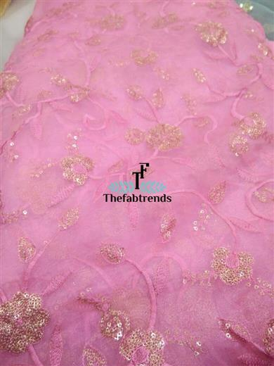 Organza Embroudry Jaal - The FabTrends