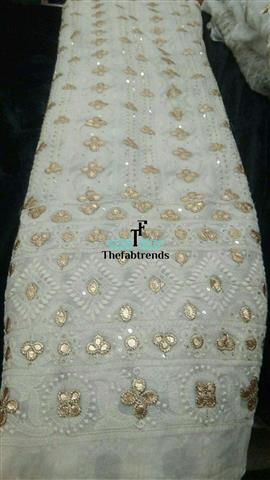 Georgette Dyeble Thread Gotapatti - The FabTrends