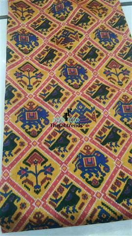 Patola Print Semi Tussar Silk - The FabTrends