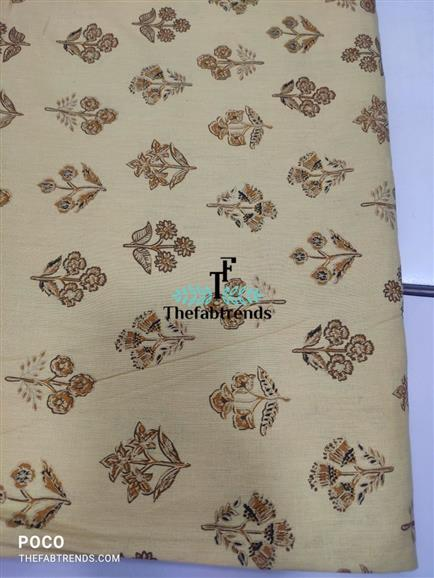 cotton flax print - The FabTrends