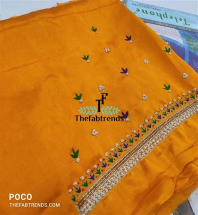 handwork blouse piece 1mtr - The FabTrends