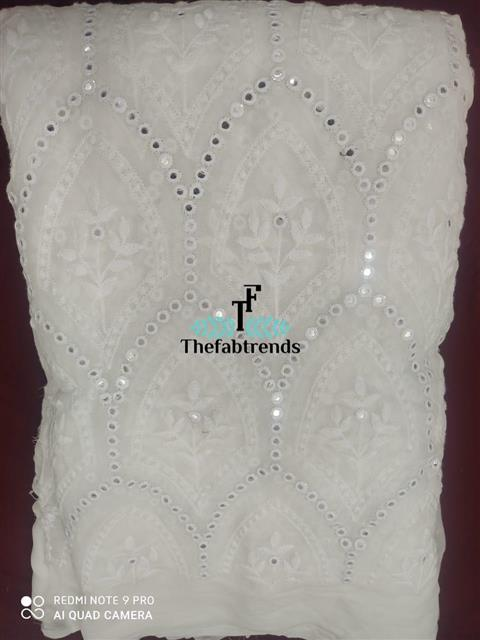Dyeble georgette patrimirror - The FabTrends