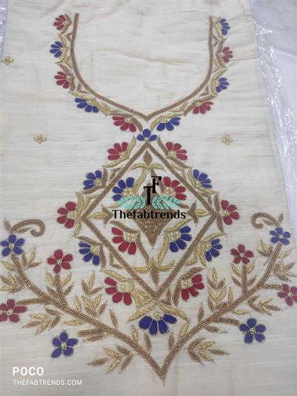 Handwork kurti fabric - The FabTrends