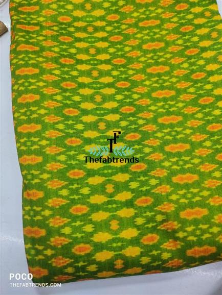Raw silk ikkat printed - The FabTrends