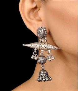 Big Tabiz Element Silver Jhumka - Missori