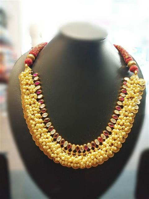 Traditional Temple Style Coins Necklace - Missori