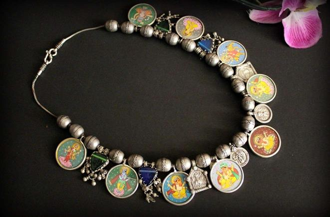 Hand Painted Tribal Necklace - Missori