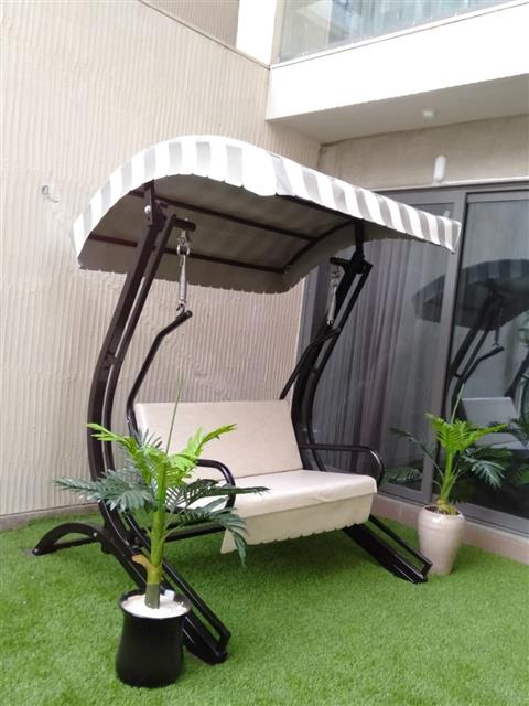 2 Seater Swing with Cushion, Roof - House Of Jula