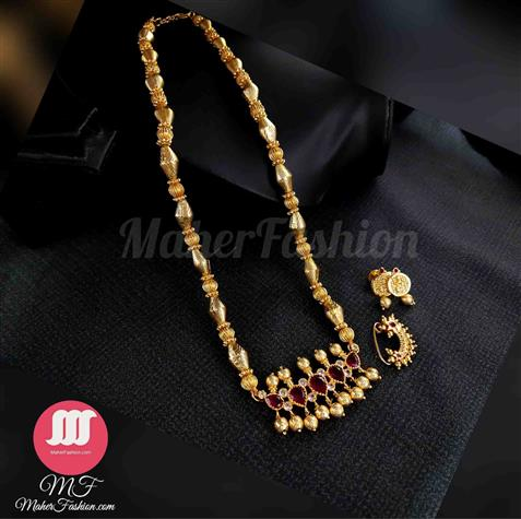Fancy Tanmani pendant Bormala with nath and earrings - Maher Fashion(Fashiontrends)