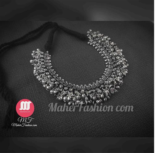 Oxidized Silver Necklece Set For Whomen and Girls - Maher Fashion(Fashiontrends)