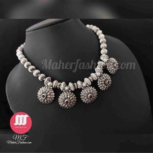 OXidised Antique Necklace - Maher Fashion(Fashiontrends)