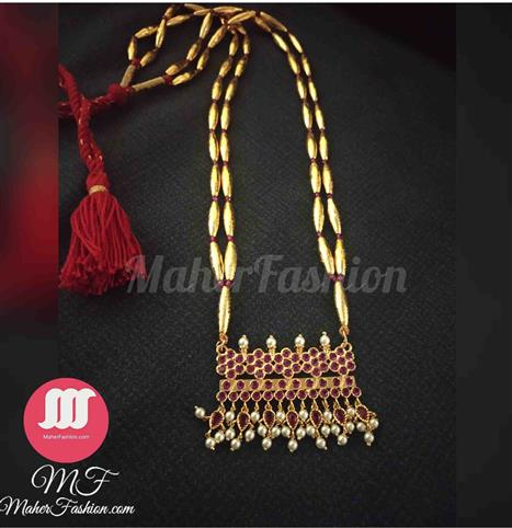 2 Layer Golden Bormala with Petti Pendant - Maher Fashion(Fashiontrends)