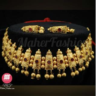 Shahi Golden Necklace - Maher Fashion(Fashiontrends)
