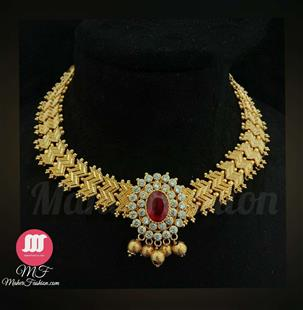 Premium Quality Golden Necklace - Maher Fashion(Fashiontrends)