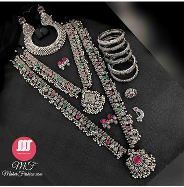 Full Oxidise Combo Set_Online _MaherFashion_Mumbai]\ - Maher Fashion(Fashiontrends)