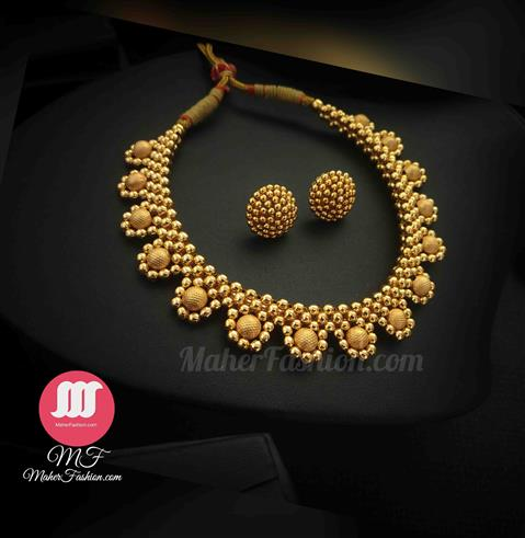 Traditional Thushi Necklace - Maher Fashion(Fashiontrends)