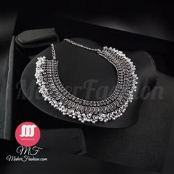 Trendy Design oxide Choker Necklace - Maher Fashion(Fashiontrends)