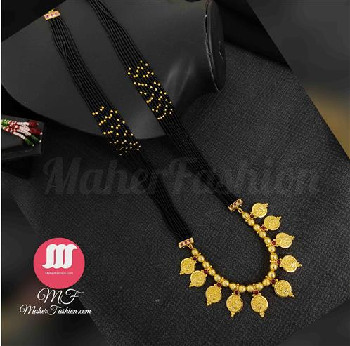 Laxmi Pendant Mangalsutra Latest Mangalsutra Designs Only Gold _Online _Maherfashion_Mumbai - Maher Fashion(Fashiontrends)