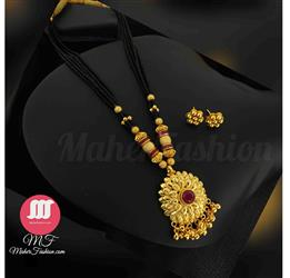 Peshwai Short Mangalsutra Latest Mangalsutra Designs Only Gold - Maher Fashion(Fashiontrends)