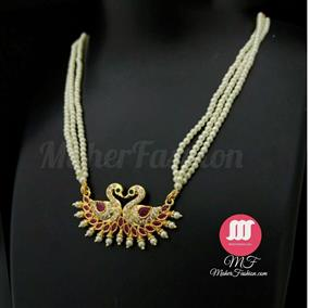 Matching Peacock Pendant Tanmani Gold Maherfashion_Mumbai - Maher Fashion(Fashiontrends)