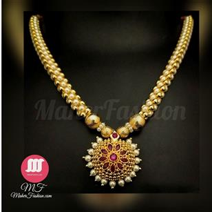 Simple Gold Finish  Thushi - Maher Fashion(Fashiontrends)