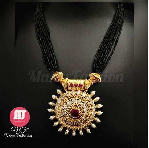 Designer Pendant Mangalsutra In Gold _Online _Maherfashion_Mumbai - Maher Fashion(Fashiontrends)