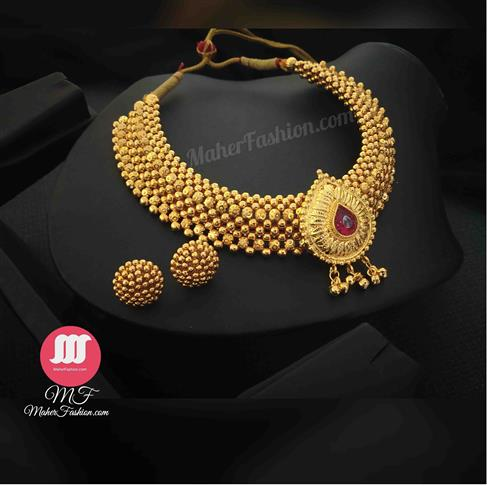 Tilak Pendant Thushi With Earrings - Maher Fashion(Fashiontrends)