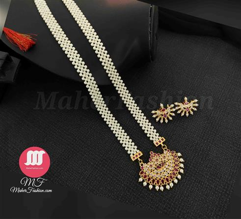 Traditional Maharashtrian  Tanmani With Earrings Maherfashion_Mumbai - Maher Fashion(Fashiontrends)