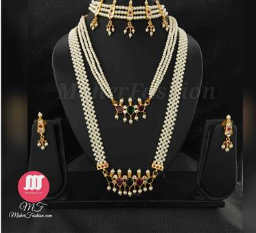 Bridal Pearl Combo Set - Maher Fashion(Fashiontrends)