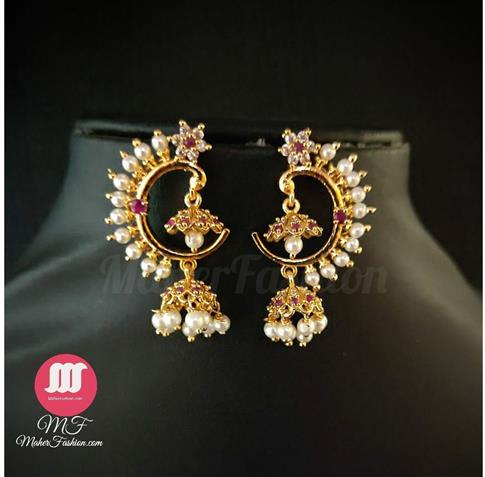 Premium Quality Peacock Design Jhumka_Online _MaherFashion_Mumbai - Maher Fashion(Fashiontrends)