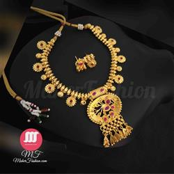 Traditional  golden necklace - Maher Fashion(Fashiontrends)