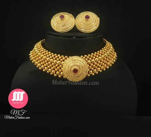 broad pendant thushi with Earrings - Maher Fashion(Fashiontrends)