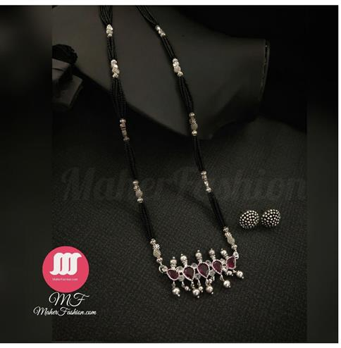 Droplet Designer Mangalsutra With Earrings _Online _MaherFashion_Mumbai - Maher Fashion(Fashiontrends)