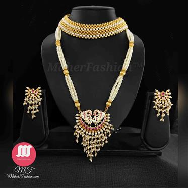 Designer Pearl Combo Set - Maher Fashion(Fashiontrends)