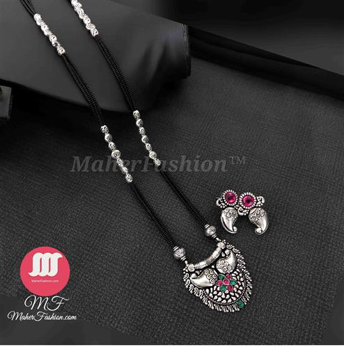 Traditional Oxidise Mangalsutra Delicate Design_Online _MaherFashion_Mumbai - Maher Fashion(Fashiontrends)