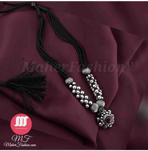 Manchali Silver Finish Saaj Pendant _Online _MaherFashion_Mumbai - Maher Fashion(Fashiontrends)