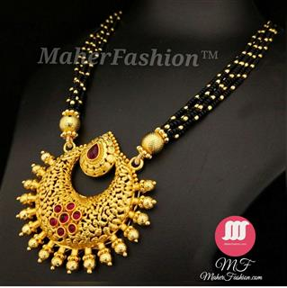 Golden Chandrakor Pendant mangalsutra _Online _MaherFashion_Mumbai - Maher Fashion(Fashiontrends)