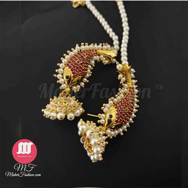 Traditional Ear Cuffs Gold Finish _Online _MaherFashion_Mumbai - Maher Fashion(Fashiontrends)