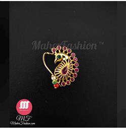 Peacock Designer Nath _Online _MaherFashion_Mumbai - Maher Fashion(Fashiontrends)