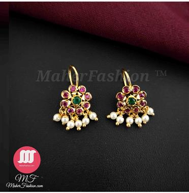 Pink And  Green Stone Bugadi - Maher Fashion(Fashiontrends)