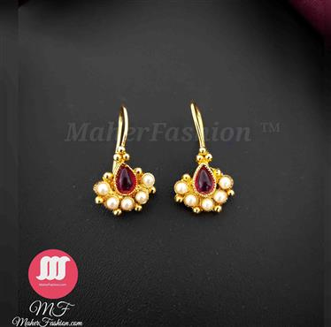 Simple Gold end Red color Bugadi For Bride _Online _MaherFashion_Mumbai - Maher Fashion(Fashiontrends)