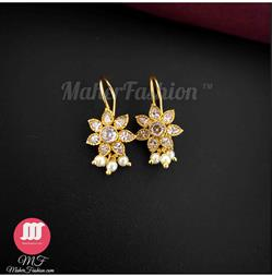 Floral style loveable Diamond decorated Bugadi for ladies _Online _MaherFashion_Mumbai - Maher Fashion(Fashiontrends)