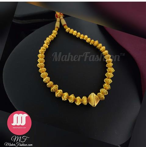 Golden Beads Long Necklace _Online _MaherFashion_Mumbai - Maher Fashion(Fashiontrends)
