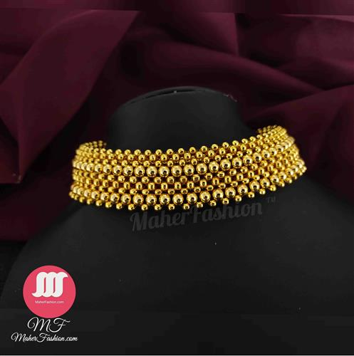 Mahalaxmi Golden Beads Thushi_Online _MaherFashion_Mumbai - Maher Fashion(Fashiontrends)
