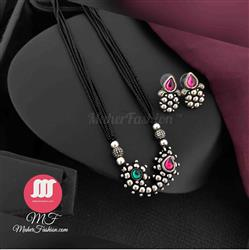 Nath Design Traditional Mangalsutra with Earrings_Online _MaherFashion_Mumbai - Maher Fashion(Fashiontrends)