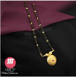 Circle Pendant Mangalsutra _Online _MaherFashion_Mumbai - Maher Fashion(Fashiontrends)