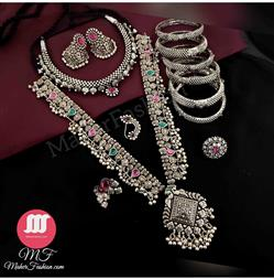 Traditional  Design Oxidise Combo Set  _Online _MaherFashion_Mumbai - Maher Fashion(Fashiontrends)