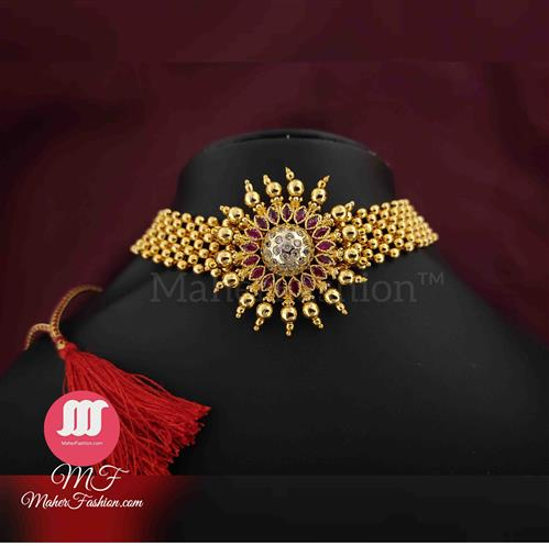 Trendy Temple Necklace _Online _MaherFashion_Mumbai - Maher Fashion(Fashiontrends)
